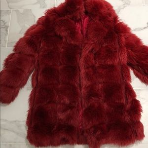 COPY - Red Faux fur jacket